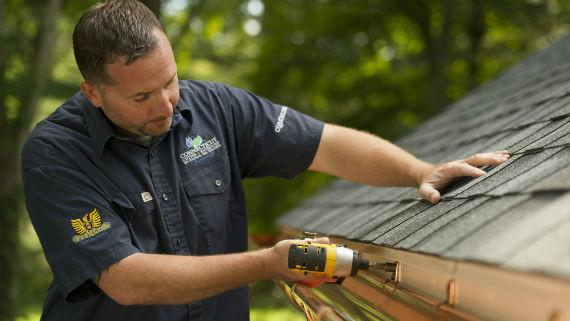 Copper Gutter and Downspout Installation
