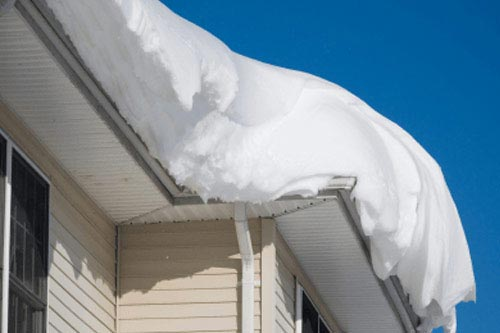 Gutter Snow & Ice Removal Services by CT Gutter