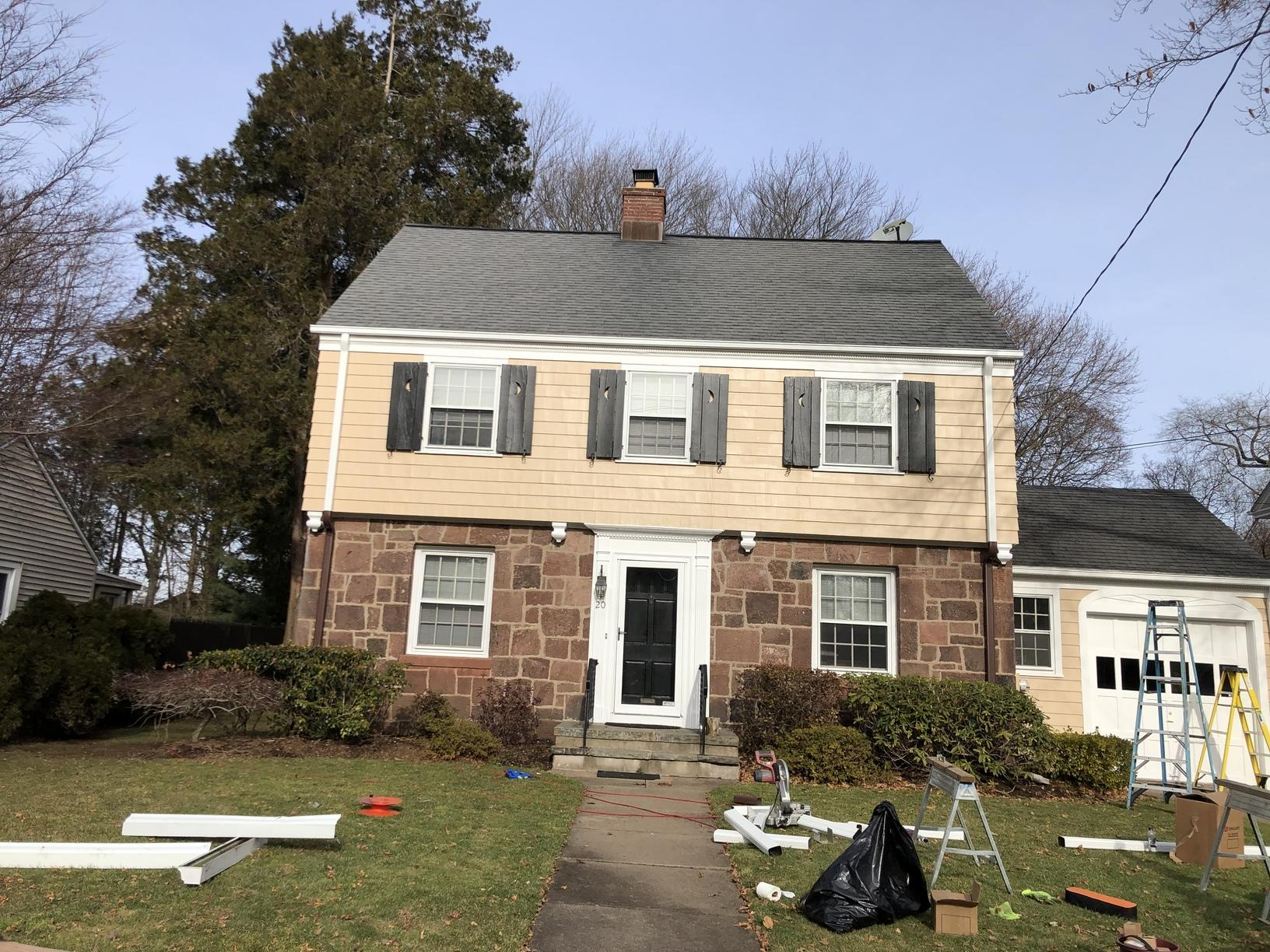 Gutter installation in north haven after image