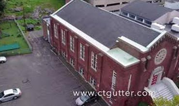 Commercial (Church) Liquid Plastic Roofing Application - Stamford, CT